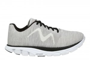 MBT Men's Speed Mix Gardenia White/Black Lightweight Running Sne